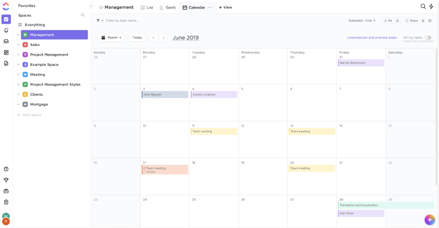 Project Calendar - Project Scheduling